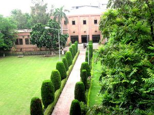 Eye catching view of the way to Bukhari Auditorium GCU Lahore.